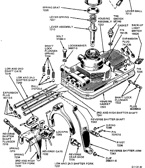 borg warner t19 transmission diagram