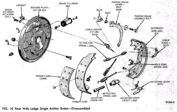 ford focus drum brake diagram