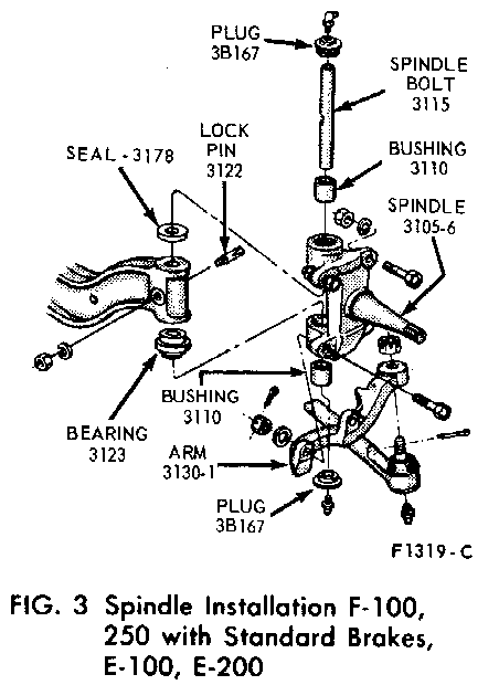 f 250 king pin diagram
